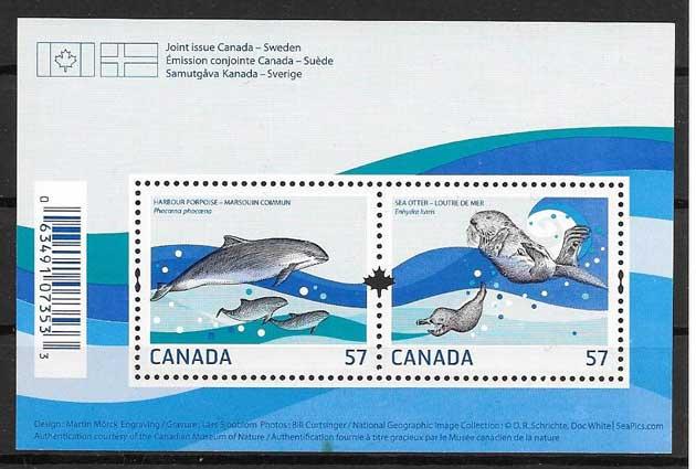 sellos Emisión Conjunta Canadá 2010