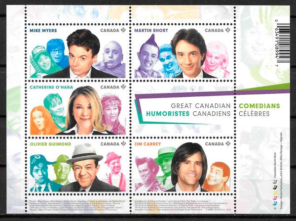 colección sellos cine Canada 2014