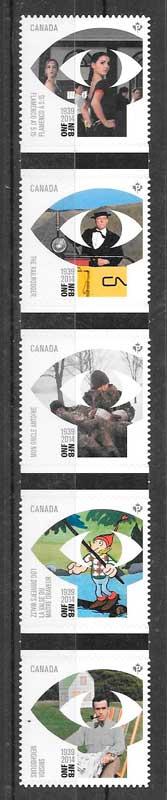 filatelia cine Canadá 2014