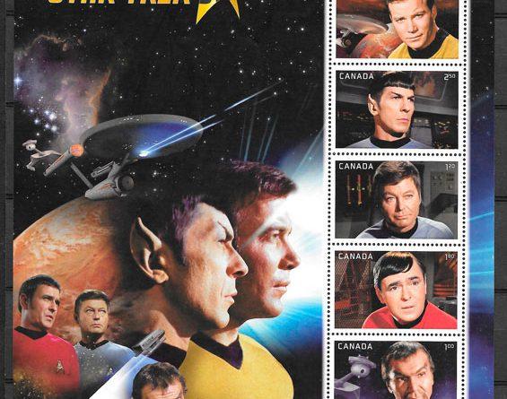 colección sellos cine Canadá 2016