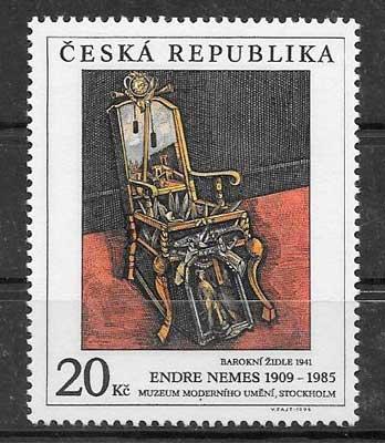 sellos Emisión Conjunta Chequia 1996