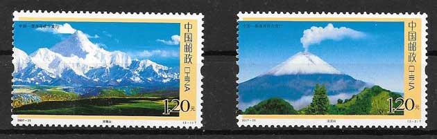 sellos colección Emisión Conjunta China 2007