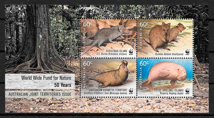 colección sellos emisiones conjunta Christmas Island 2011