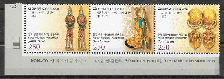sellos Emisiones Conjuntas Corea del Sur 2009