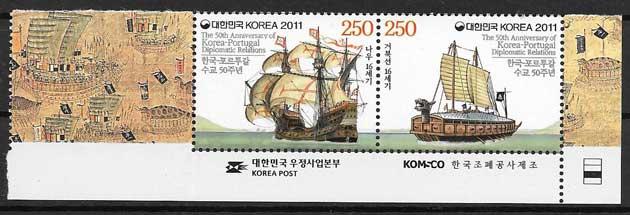 sellos Emisiones Conjunta Corea del Sur 2011
