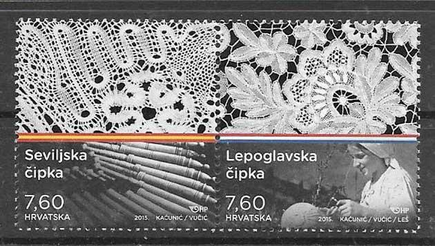 sellos colección Emisión Conjunta Croacia 2015