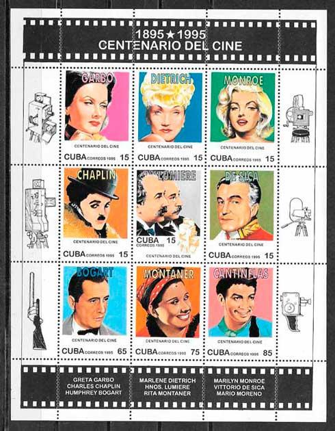 filatelia colección cine Cuba 1995