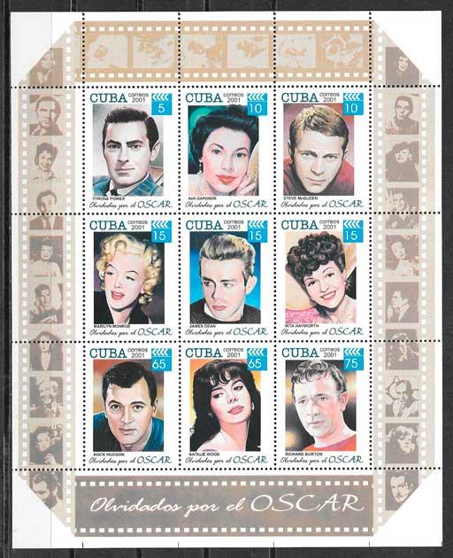 colección sellos cine Cuba 2001