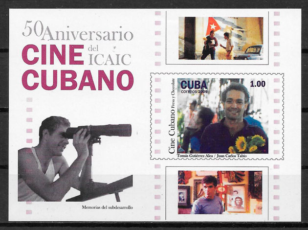 colección sellos cine Cuba 2009