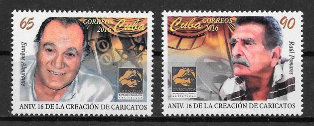 filatelia cine Cuba 2016