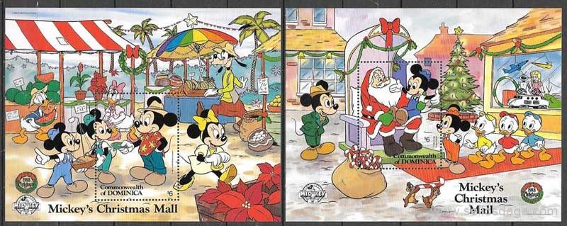 sellos Disney Dominica 1988