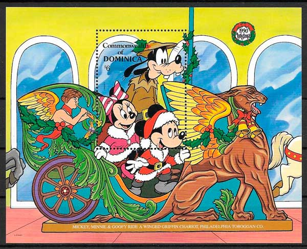 filatelia Disney Dominica 1990
