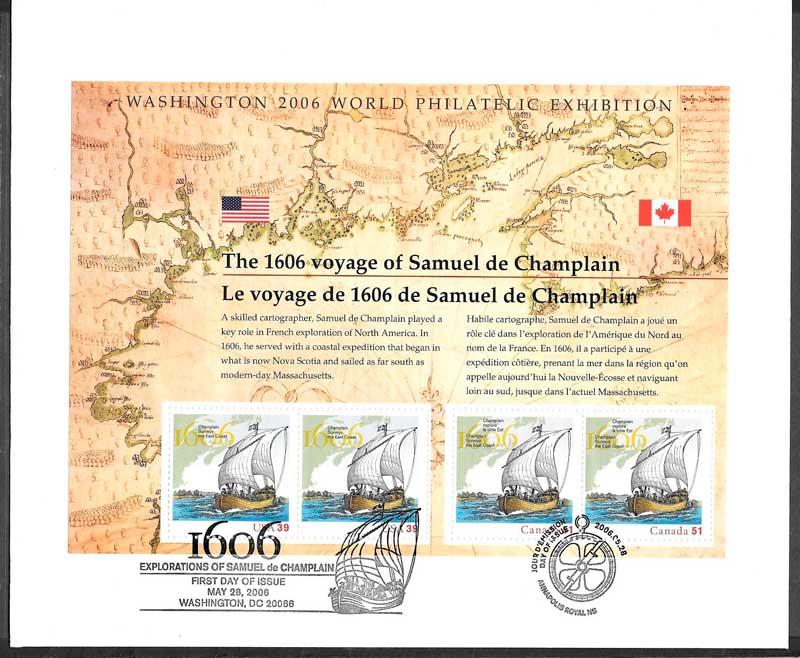 sellos emisiones conjuntas USA 2006
