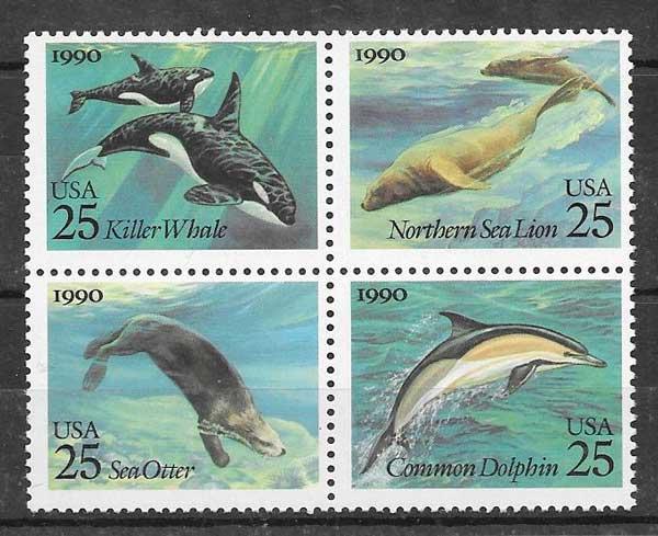 Filatelia Emisión Conjunta USA 1990