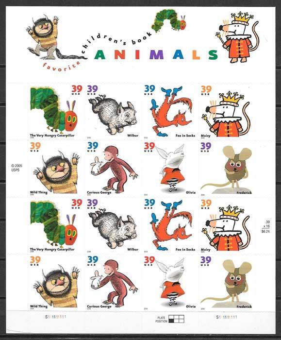 colección sellos Emisión Conjunta USA 2006