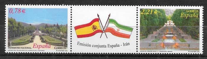 sellos colección Emisión Conjunta España 2005