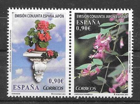 colección sellos Emisiones Conjuntas España 2013