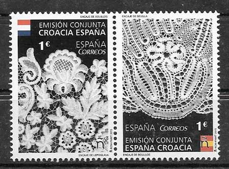 sellos colección Emisión Conjunta España 2015