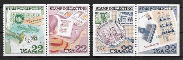 colección sellos Emisión Conjunta EE:UU