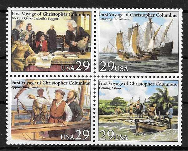 colección sellos USA 1992