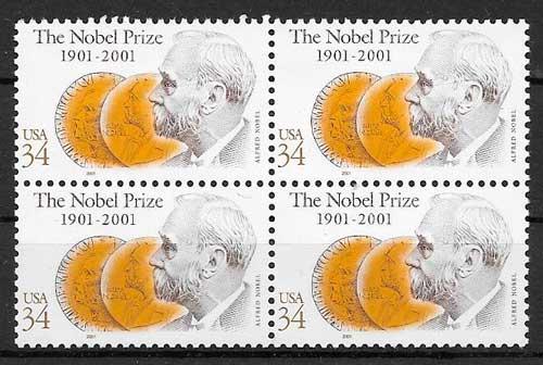 sellos colección emisiones conjunta EE:UU 2001