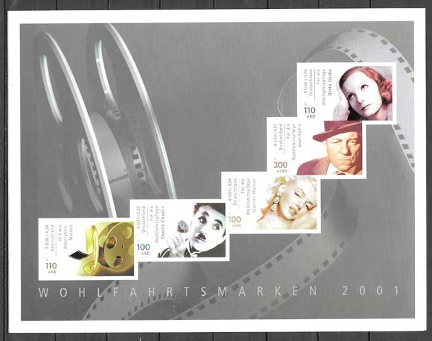 filatelia cine Alemania 2001