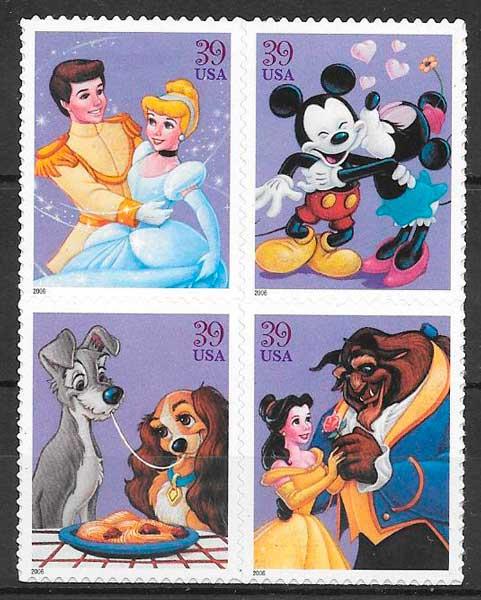 filatelia Disney 2006 USA