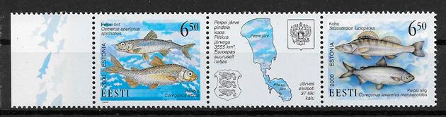 colección sellos emisión conjunta Estonia