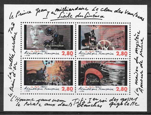 filatelia colección cine Francia 1995