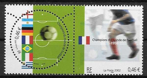 Sellos Emisión Conjunta Francia 2002