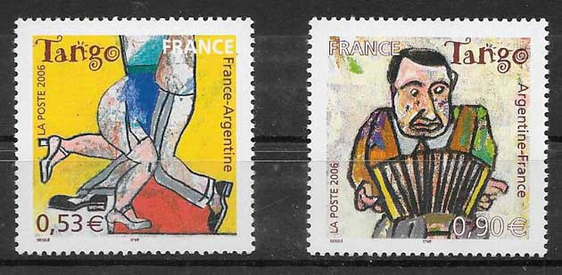 Filatelia Emisión Conjunta Francia 2006