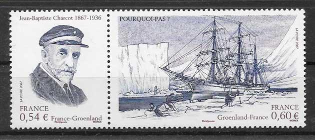 selos colección Emisión Conjunta Francia 2007