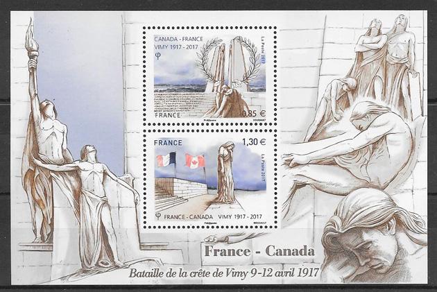 sellos emisiones conjunta Francia 2017