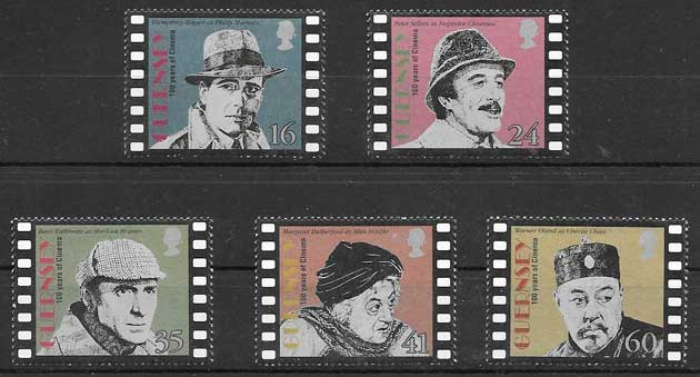 colección sellos cine Guersey 1996