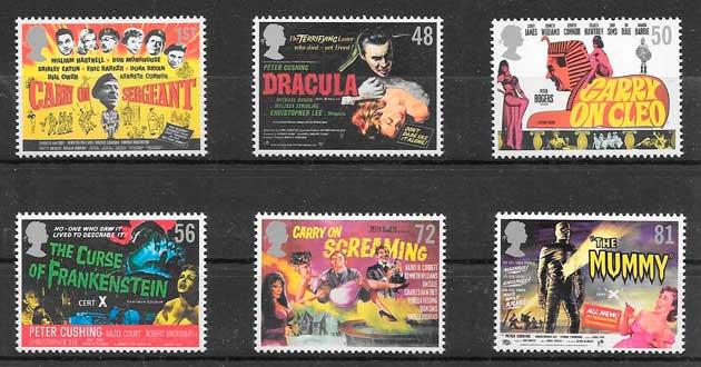 sellos cine Gran Bretaña 2008