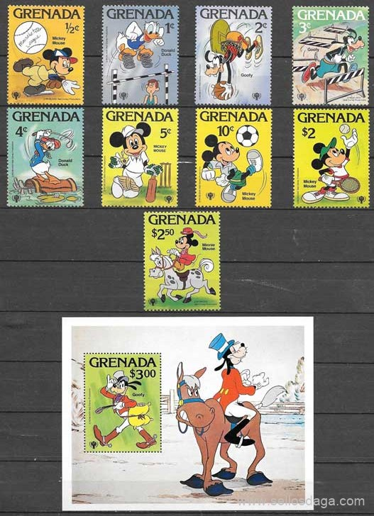 filatelia Disney Grenada 1979