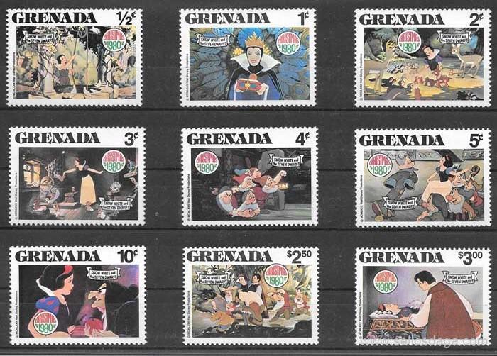 sellos colección Disney Grenada 1980