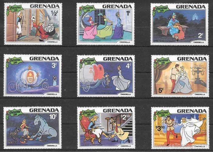 colección sellos Disney Grenada 1981
