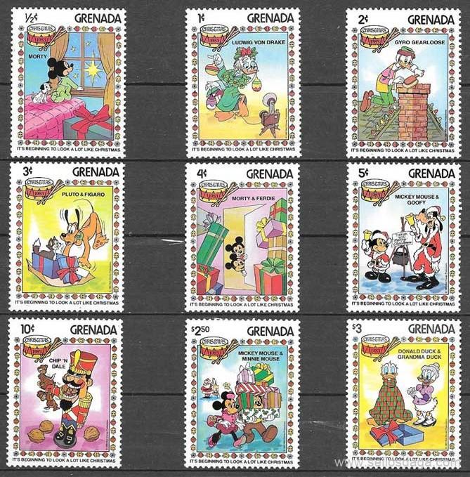 colección sellos Disney Grenada 1983