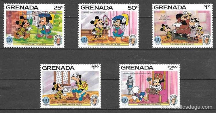 sellos Disney Grenada 1985