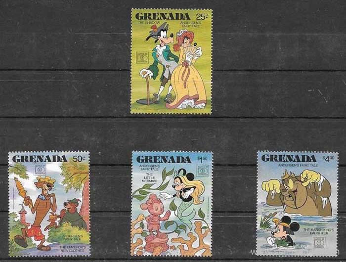 sellos Disney Grenada 1987