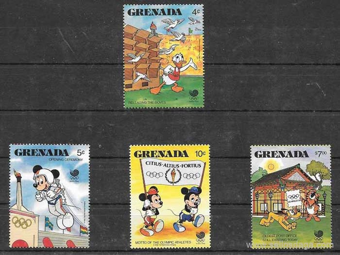 filatelia Disney Grenada 1988