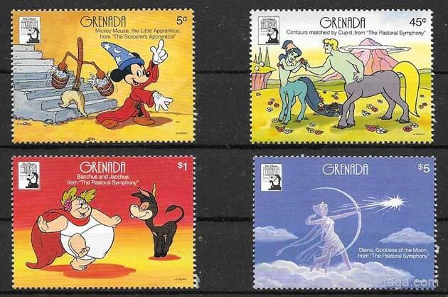filatelia Disney Grenada 1990