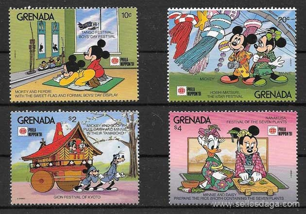 filatelia Disney Grenada 1991
