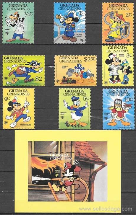 sellos Grenadina Disney 1979