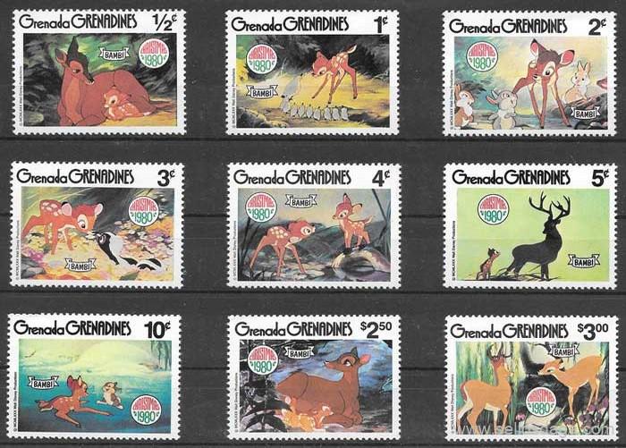 sellos Disney Grenadina 1979