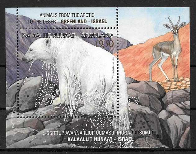 colección sellos Emisión Conjunta Groenlandia 2013