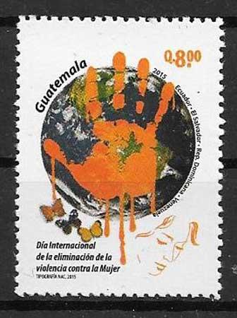 colección sellos emisiones conjuntas Guatemala 2015