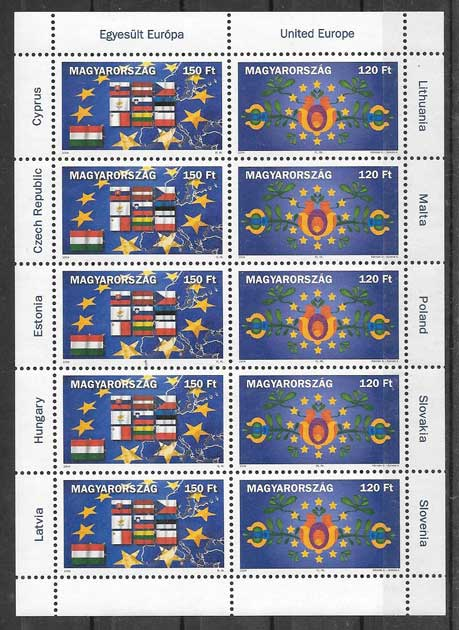 sellos Emisión Conjunta Hungría 2004