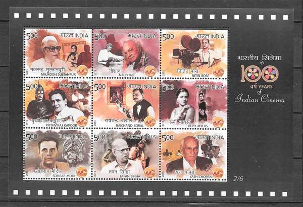 filatelia cine india 2013